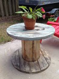 Cable Reel Table by Rustic Outdoor Table Setting Comprising Cable Reel Table 1200 Mm