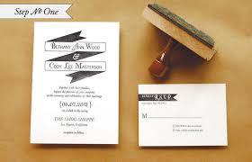 diy rubber st banner wedding invitations