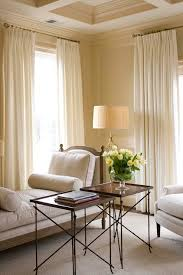 Floor Length Curtains House Studios Bedrooms Coffered Ceiling Ivory Rug
