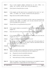 subject verb agreement or concord worksheet free esl printable