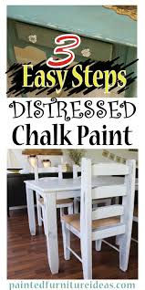 chalk paint kitchen cabinets distressed painted furniture ideas 3 easy steps to distressing with