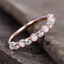 wedding rings opal images 2018 roxi new opal wedding ring rose gold color cz zircon vintage jpg
