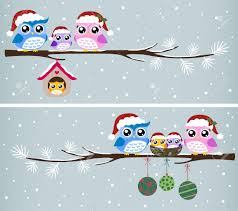 owl family celebration royalty free cliparts vectors