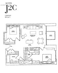the jack condos 2 jack ave rosedale toronto 2 bedroom floor plans