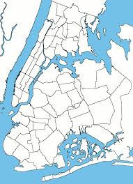 Map Of Manhattan New York City by Blank Usable Map Of Nyc Boroughs