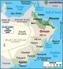 middle east map gulf of oman oman map geography of oman map of oman worldatlas