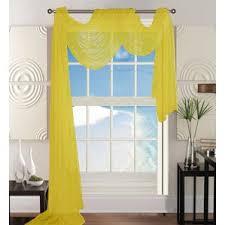 Sheer Gold Curtains Window Scarf Yellow U0026 Gold Curtains U0026 Drapes You U0027ll Love Wayfair
