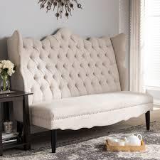 baxton studio witherby beige linen modern banquette bench ebay