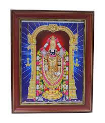 lord venkateswara photo frames with lights and music sanskar devotional photo frame lord balaji brown pvc balaji 001 buy