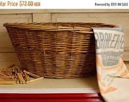 basket and bowls etsy