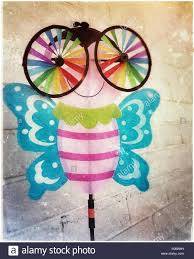 and colorful butterfly lawn ornament with big spinning