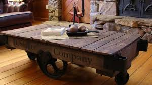Rustic Coffee Table With Wheels Rustic Coffee Tables New Reclaimed Wood Industrial Table Cart