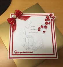 8x8 wedding card tattered lace melded church die with cherry