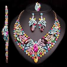 stone set necklace images Luxury multi stone set necklace earrings atperrys jpg