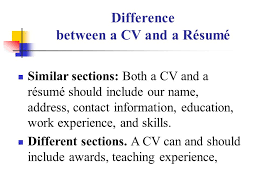 What Difference Between Resume And Cv Lecture 3 Hunting For Jobs Ppt Download