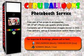 photobooth rental packages cebu balloons and party supplies