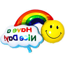 happy thanksgiving smiley face online get cheap rainbow balloon decorations aliexpress com