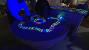 trax 12ft glow in the set w 2 light up cars with