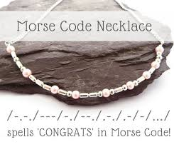 Wedding Gift Necklace 54 Best Morse Code Jewellery Images On Pinterest Morse Code