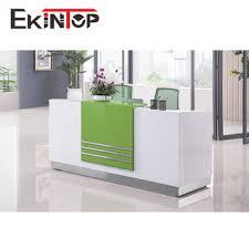 comptoir de bureau table de réception en bois bureau comptoir table mobilier de bureau