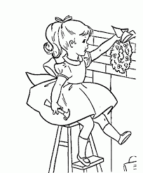 christmas coloring pages of a little coloring home
