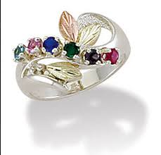 black gold mothers ring offering black silver jewelry made by coleman and