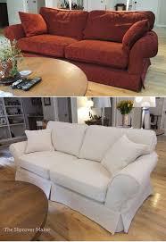 White Sofa Slip Cover by Furniture 75 Coastal Living Room Design White Fabric Slipcovered