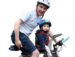 siege auto devant le siège vélo bilby junior de polisport bébé compar