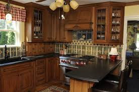 kitchen with blue countertops ceramic cabinet knobs pulls best