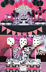 bunco party glam pink black bunco party hostess with the mostess