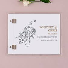 personalized wedding guest book vintage travel personalized wedding guest book with clear acrylic