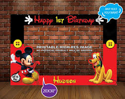 Mickey Mouse Photo Booth Mickey Photo Booth Etsy