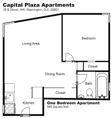 1 Bedroom Apartment Floor Plans by 1 Bedroom Apartments In Dc