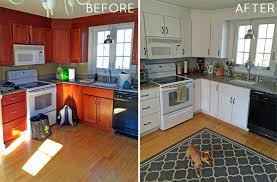 before after kitchen cabinets painting your kitchen cabinets visionexchange co
