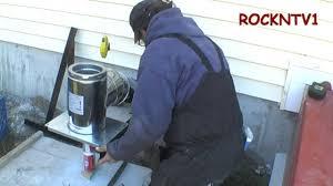 supervent chimney flue through the wall install support bracket