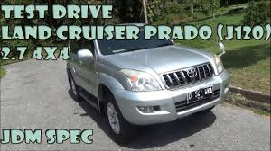 land cruiser 2005 test drive 2005 toyota land cruiser prado 2 7 4x4 jdm spec