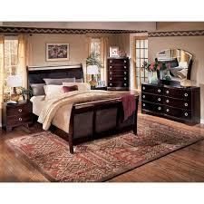 pinella sleigh bedroom set signature design furniture cart