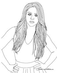 coloring pages of people shakira songwriter coloring pages hellokids com
