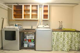Laundry Room Cabinets With Hanging Rod Decoration Laundry Room Cabinet Design Unfinished Makeover With