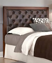 Leather Upholstered Bed Attractive Brown Leather Headboard Best Images About Headboards On