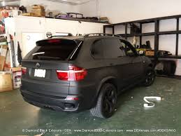 matte red bmw 2009 bmw x5 4 8is wrapped in matte black by dbx diamond black