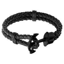 men braided leather bracelet images Men 39 s steel art black braided leather bracelet with stainless