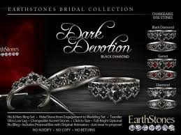 black wedding sets second marketplace earthstones wedding rings