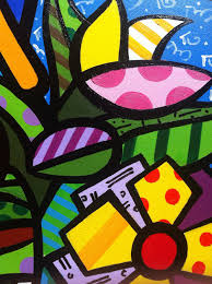 britto garden copy romeo britto hand painted pop art acrylic painting on canvas