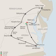 Jamestown Virginia Map Washington Dc Virginia U0026 Pennsylvania Tours Globus