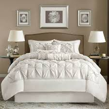 Black And White Comforter Full Shop Madison Park Laurel Ruched White Bed Set The Home