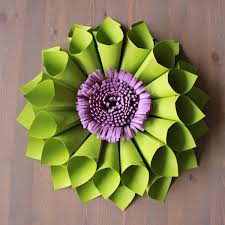 table centerpiece etsy green paper flower dahlia large wreath