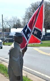 Black Confederate Flag Black Confederate Re Enactor At 150th Appomattox Anniversary Us
