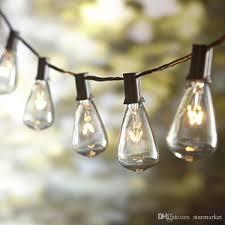 St38 Bulb String Light Tungsten Filament Clear 10 Lights 110v Us