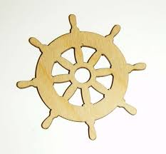 Nautical Theme Ship Wheel Shape Unfinished Wood Cut Out Nautical Theme Variety Of